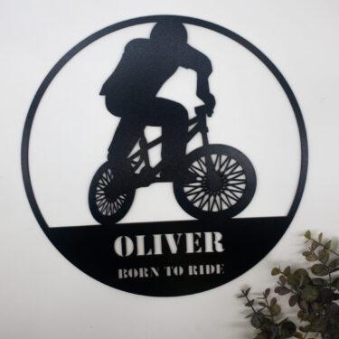 personalised bike sign, laser cut sign, custom sign