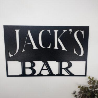 personalised bar sign, custom bar sign