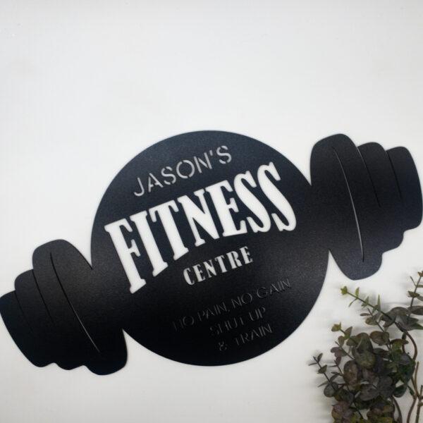 personalised gym sign, custom gym sign