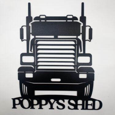 truck sign, personalised sign, laser cut sign