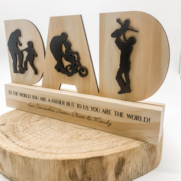 3d dad sign, fathers day sign