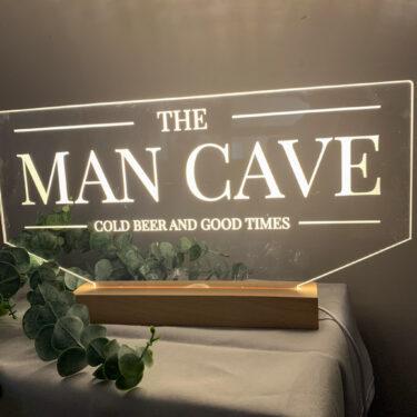 man cave sign, light up man cave sign