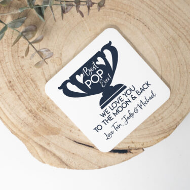 Personalised coaster, fathers day coasters