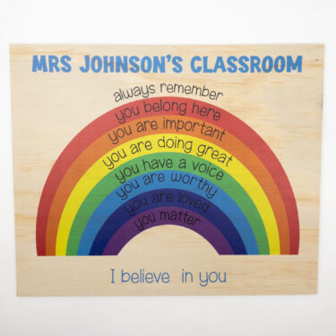 personalised teacher sign. classroom sign