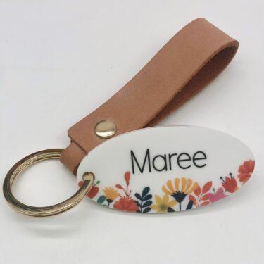 personalised teacher keyring, custom teacher gifts